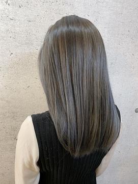 グレージュ/髪質改善/カラー/20代30代/ロング/ウェーブ/うる艶