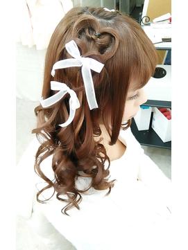 リボンアレンジヘア☆+゜