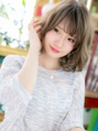 ■シアカラー無造作ミディアムウルフ52-4★川口20代30代40代