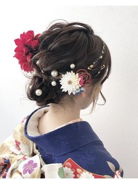 結婚式、成人式、卒業式ヘアセット【岡山】【倉敷】【三浦】