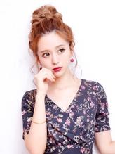 【NOB hairdesign大船店】ゆるふわお団子アレンジ .59