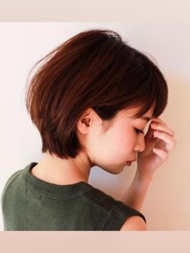 【hair&make bis】吉岡俊 大人可愛い耳かけグラボブスタイル