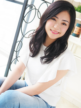 【ヘアジュレ 森 】 黒髪大人美人なクールセミディ 大人女子.48