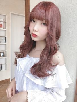 【Euphoria須藤】ケアブリーチで艶髪 上品ピンクベージュ