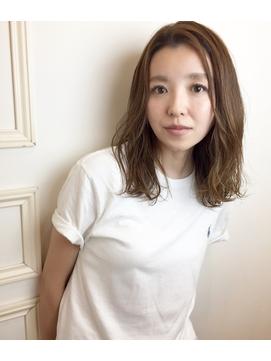 中村アンさん風こなれセミディ☆