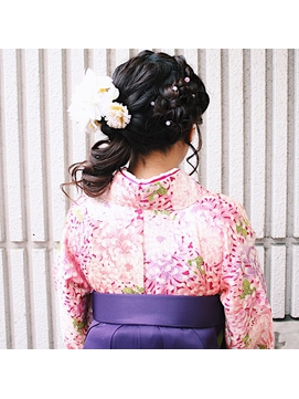 【NeoliveCapu】卒業式 サイド ヘアセット 着物