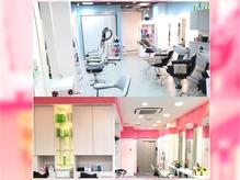 白、ピンク、水色を基調とした可愛らしい空間☆
