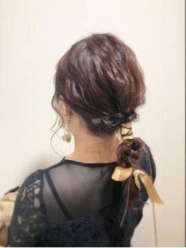 くびれスタイルでイメチェン×似合わせ前髪×ラベンダーカラー