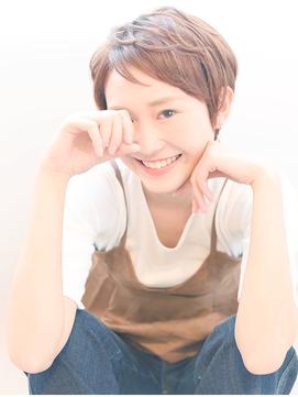 【イルミナカラー】× 大人かわいい小顔ショート♪