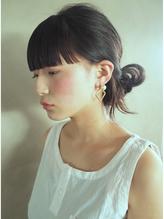 【nanuk】ロングヘアとワイドなパッツン前髪◇モードアレンジ 前髪パーマ.12