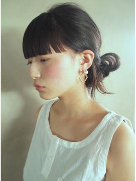 【nanuk】ロングヘアとワイドなパッツン前髪◇モードアレンジ