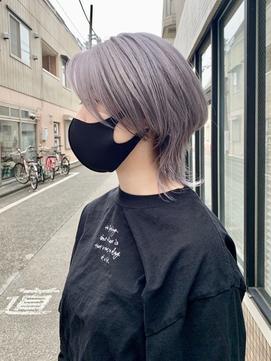 ウルフカット+ラベンダーパールグレー【noel 溝の口店】
