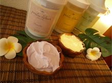 クリームは香り別に3種類、気分やお好みでお選びください。