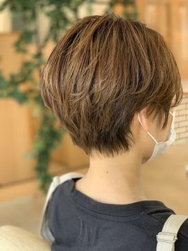 【アッシュグレージュ】ハンサムレイヤーショート♪ 20代×30代