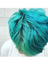 #ブルーグリーン #髪色チェンジ.50
