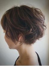 《kubu hair》大人ゆるふわひし形ショートボブデジタルパーマ 流行.16