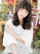 *bliss川口* くせ毛風カールx黒髪の好感度セミディa.25