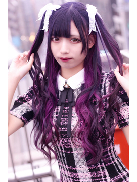 ☆CAPSULE☆インナーカラーパープルピンク&パープル