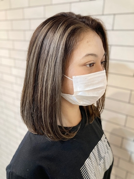 ASHLEY☆NOBU ハイライトでアクセント 白髪染め 福島区 美容室