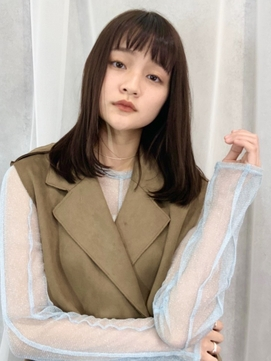 M.SLASH/オン眉シアーカラー/小顔/ナチュラルストレート
