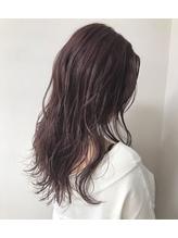 【LUNONcheliy】韓国人風ルーズヘア×ピンクアッシュベージュ.18