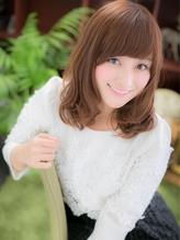 *+COVER HAIR+*…モテ度・愛され度抜群♪王道ゆるふわミディa 大人カワイイ.13