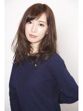 【オトナ女子】モードネイビー×セミロング☆ 社会人.48