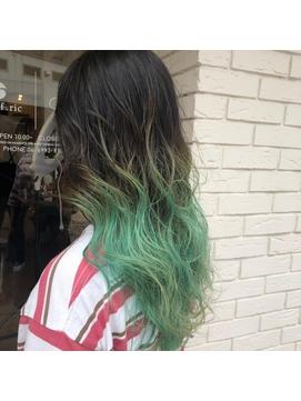 裾カラーグリーン