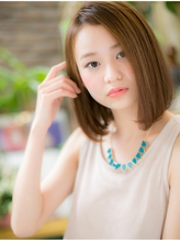 *+COVER HAIR+*…ツヤ色☆ワンレンボブa イエローアッシュ.16