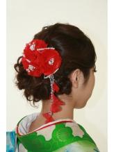 編み込みですっきりまとめ髪 まとめ髪.39