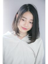 【GARDEN西川】大人可愛い・黒髪前髪なしワンカールとろみロブ うるツヤ.13
