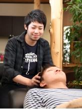 スタッフみんなで考えたオリジナルヘッドスパ☆頭皮環境を整え、リラックス気分を味わえます。