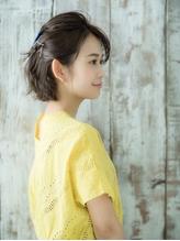 ショート飾りピン簡単アレンジ.13