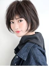 ふわ軽ショート×Wバング☆かわいいナチュラル 小顔ショートボブ.33