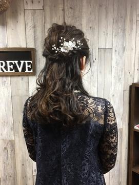 【Belqreve別府大分】結婚式およばれハーフアップ