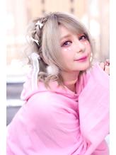 ☆CAPSULE☆ミルクティー編み込みリボンアレンジ.55