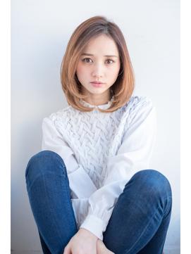 【東 純平】オトナ グラデーション 小顔レイヤーボブ