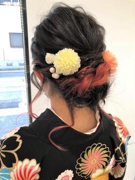 ゆるふわ可愛い☆袴☆こなれヘアアレンジ【新小岩】