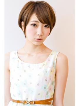 【snob rico】篠田麻里子風ショートxカーキーブラウン