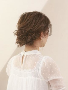 【AUBE HAIR】華やか編み込みオールアップ