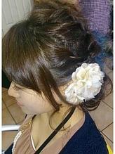 ルーズなロープ編みアップヘア .35