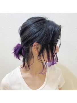 Coast.アニ髪×ポニーテール×バイオレットカラー×紫