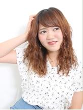 簡単スタイリング×小顔前髪パーマ.17