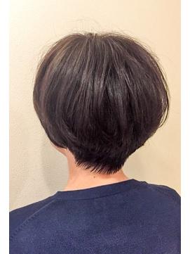 【60代お客様】白髪を染めるツヤ出しオーガニックカラーショート