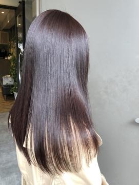 艶髪×ストレートヘア×ピンクブラウン シマズ