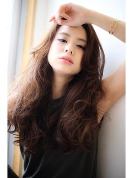 [OCEAN Hair&Life]ヌーディな暗髪ルーズカール☆☆☆