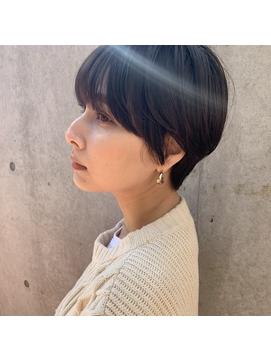 【丸みショート 前髪】ハンサムショート スリークショート