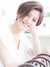 トップふんわり前髪なしかきあげショートボブ/表参道青山原宿 ピュア.30