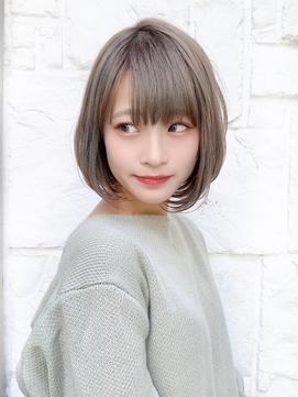【東 純平】小顔かわいい透明感グレージュボブ