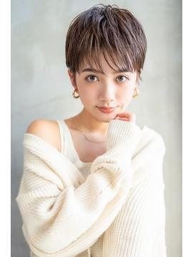 AUSTIN☆大人かわいい前髪セシルカットココアブラウンネオウルフ